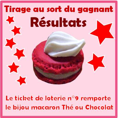 jeu concours résultats du tirage au sort pour le bijou gourmand de noel thé ou chocolat