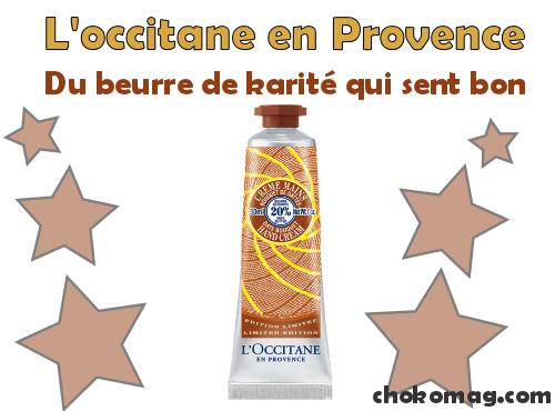 crème pour les mains au karité édition limitée bouquet de dattes l'occitane en provence