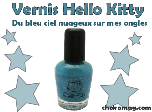 bleu nuage bleu ciel irisé hello kitty carribean
