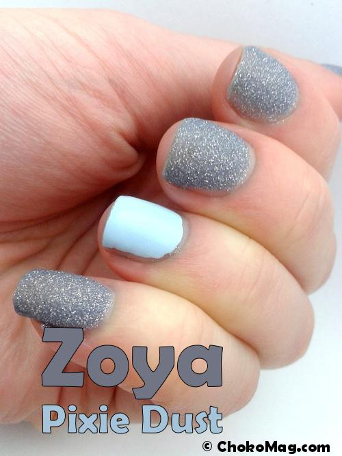 zoya pixie dust nail art bleu