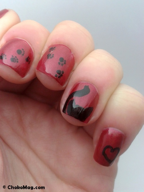manucure chat nail art is easy