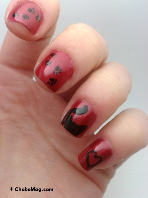 nail art is easy anniversaire manucure chat