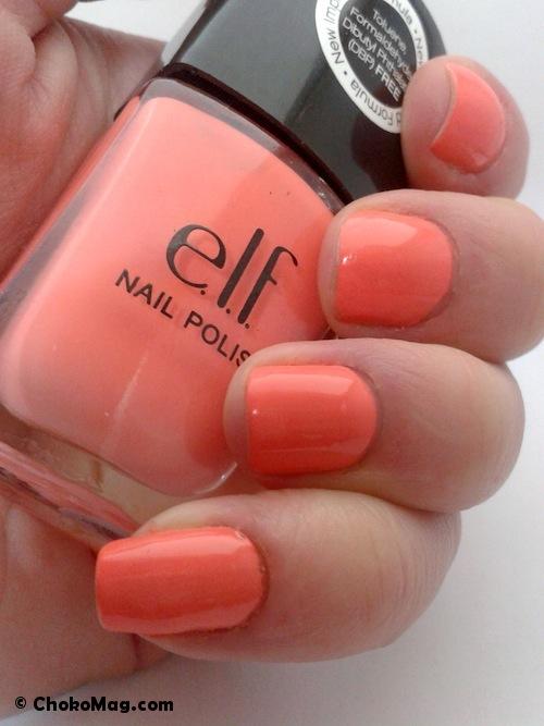 vernis corail orange pour l'été 2013