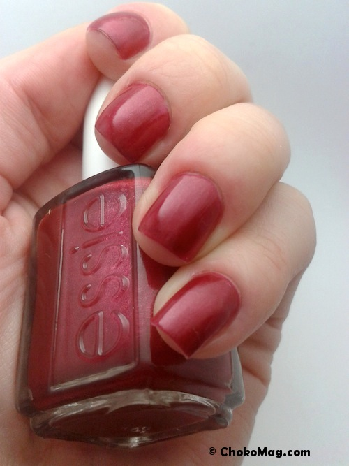 swatch essie after sex rouge bordeau framboise