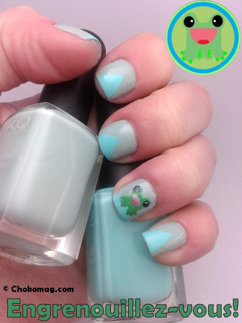 nail art grenouille kawaii