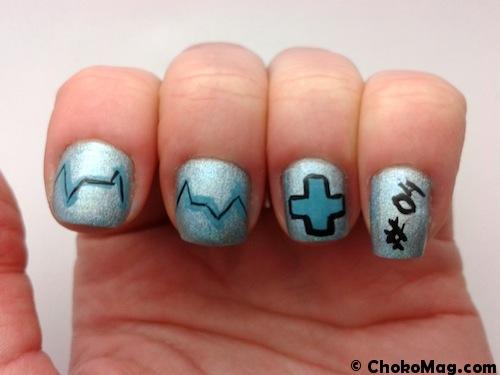 nailart nurse blue holo