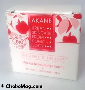 akane skincare crème de jour bio à la pomme japonaise