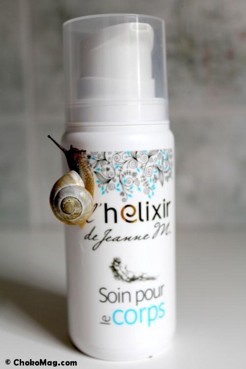 soin pour le corps hydratant à la bave d'escargot français