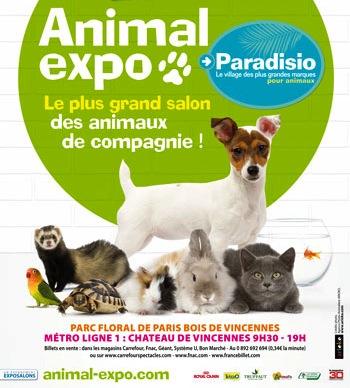 places gratuites pour animal expo