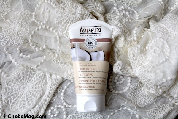 lait pour le corps bio vanille coco Lavera