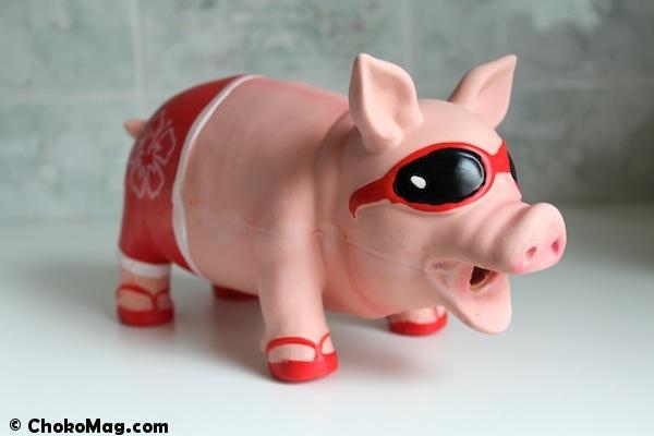 maialino jouet pour chien qui imite le cochon en provenance d'italie