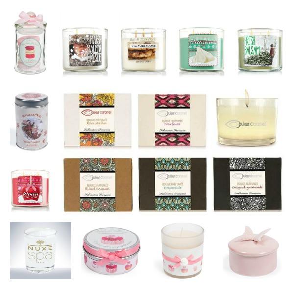 idée cadeau de noël: bougies bath and body works, couleur caramel et maisons du monde