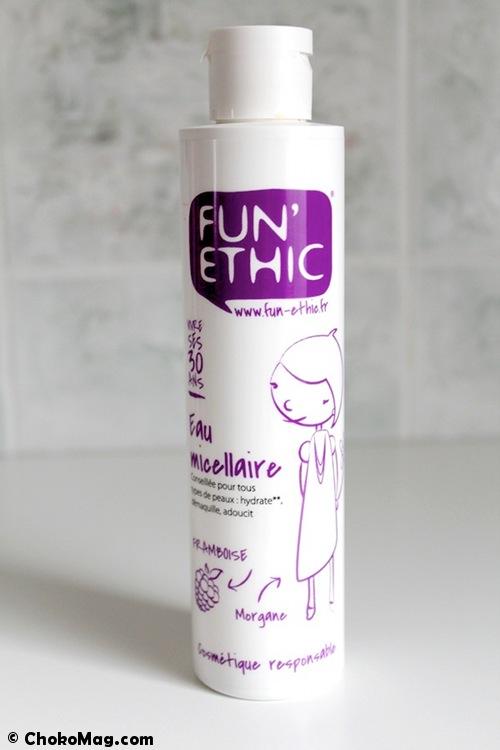 eau micellaire à la framboise bio fun ethic family