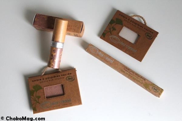 maquillage bio couleur caramel dans les tons nudes