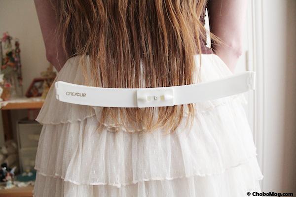 creaclip à positionner en bas des cheveux
