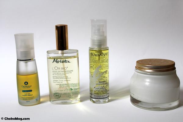 huiles végétales bio et naturelles pour cheveux