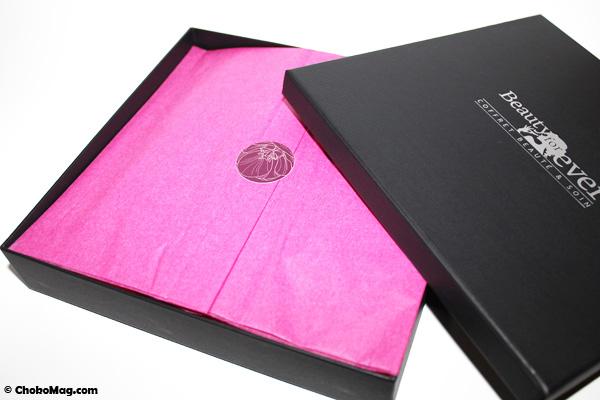 pliage papier de soie ouverture box beauté beauty forever