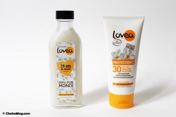 crème solaire lovea spf30 et monoi pur de tahiti lovea pas cher