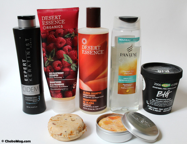 shampooings naturels sans silicones