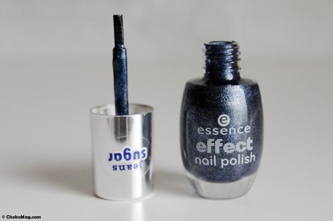 vernis texturé bleu jean's sablé essence