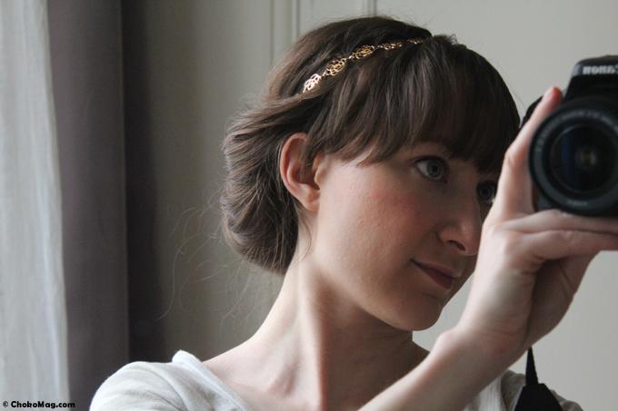 tutoriel coiffure headband métal à fleurs