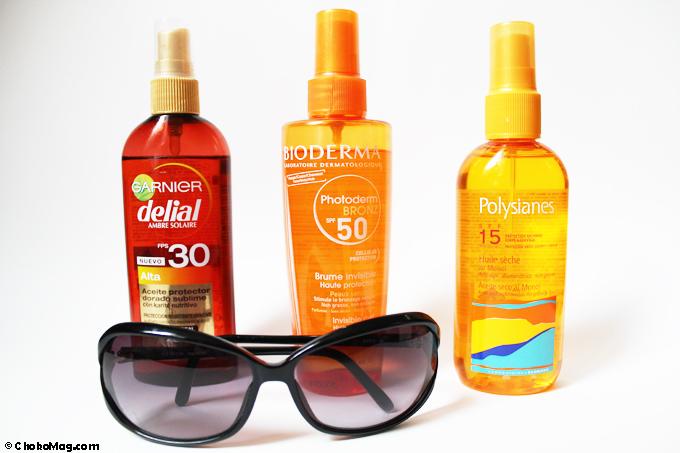 produits solaires corps huiles