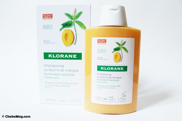 shampoing à la mangue klorane sans silicones