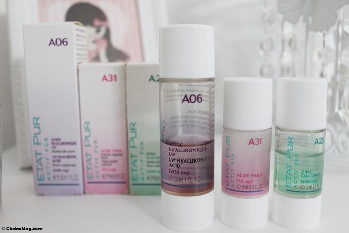 trio d'actifs purs Etat Pur anti imperfection hydratant et tenseur avec zinc, aloe vera et acide hyaluronique