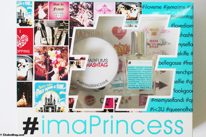 coffret parfum hashtag i am princess