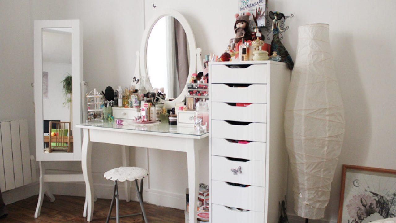 Dressing De Coin Ikea coiffeuse ikea hemnes: comment j'ai organisé mon coin makeup