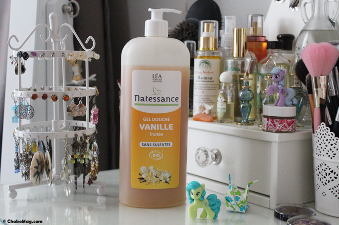 gel douche bio natessance vanille fruitée