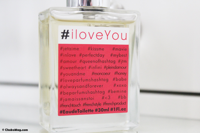 parfums hashtag iloveyou