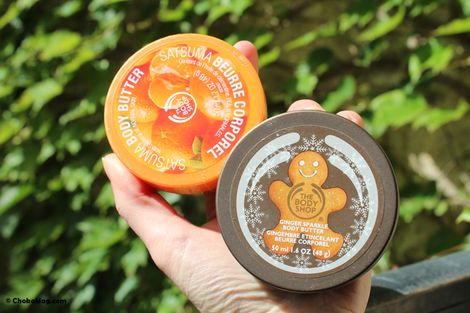 beurre corporel the body shop clementine
