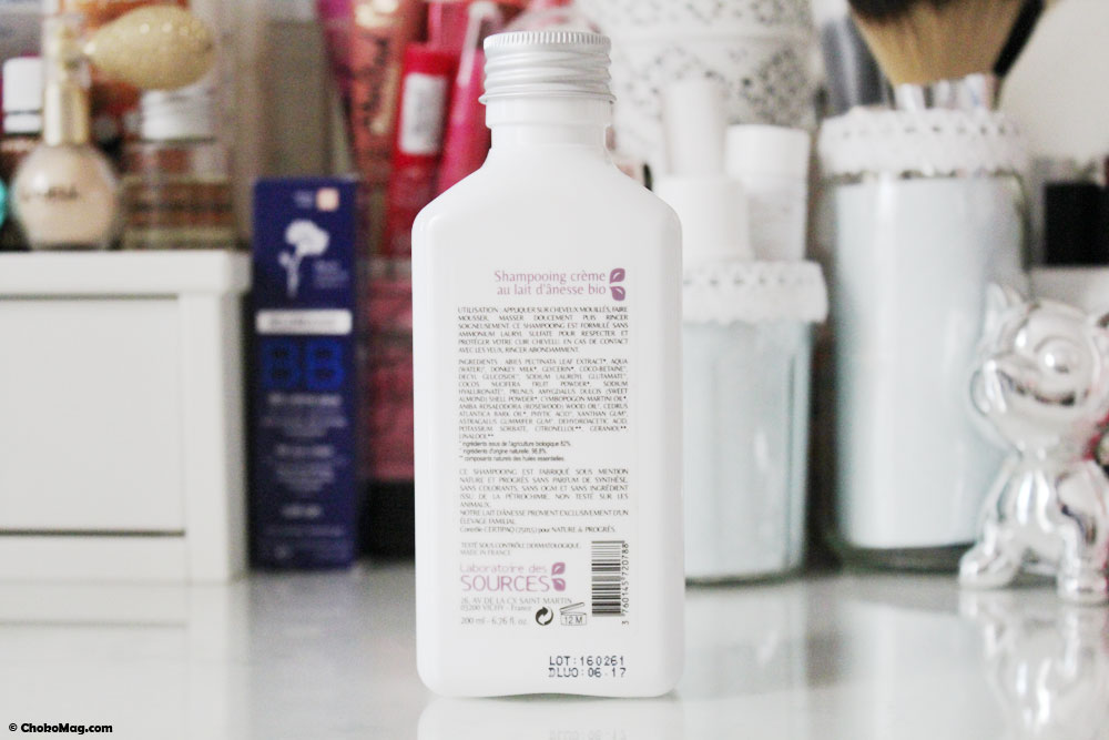 shampooing lait d'anesse