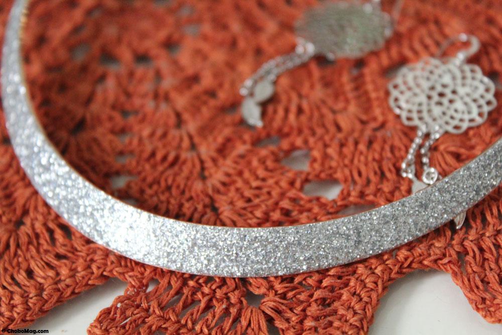 collier en acier inoxydable à paillettes