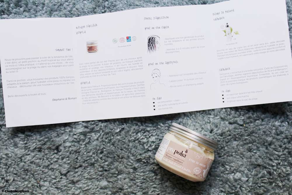 box bio masque propolia