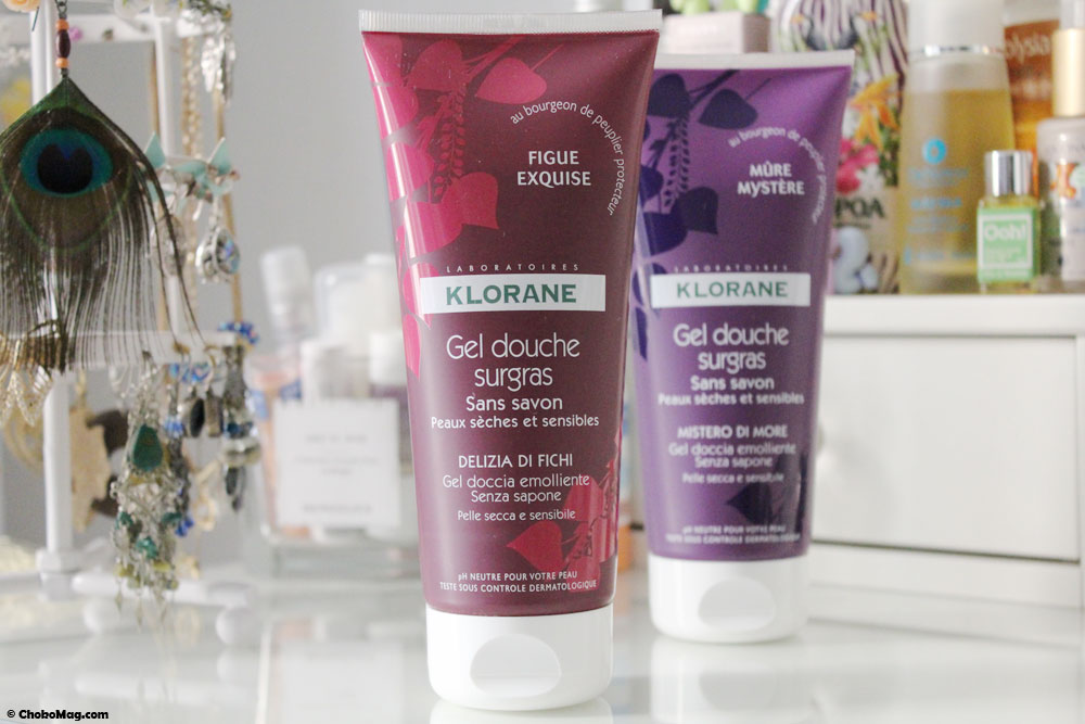 gel douche figue klorane