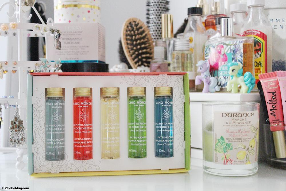 cinq mondes rituels huiles de douche