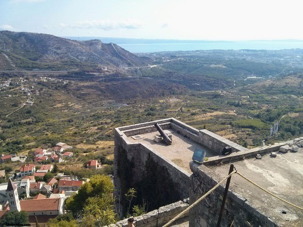 chateau de klis en croatie