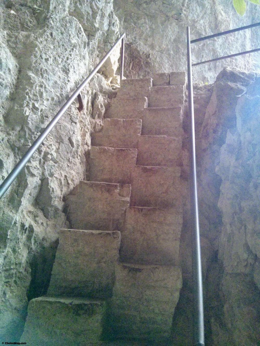 escaliers plitvice croatie