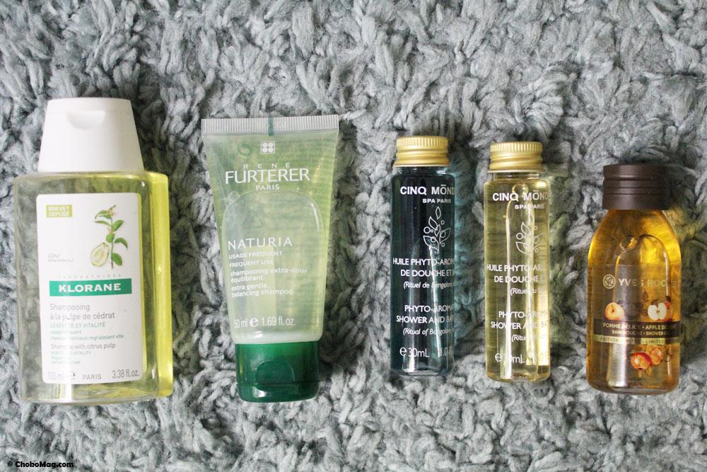 gel douche et shampooing format voyage