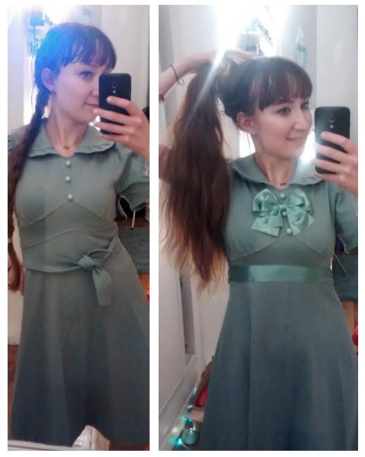 personnalisation robe vintage avant et après