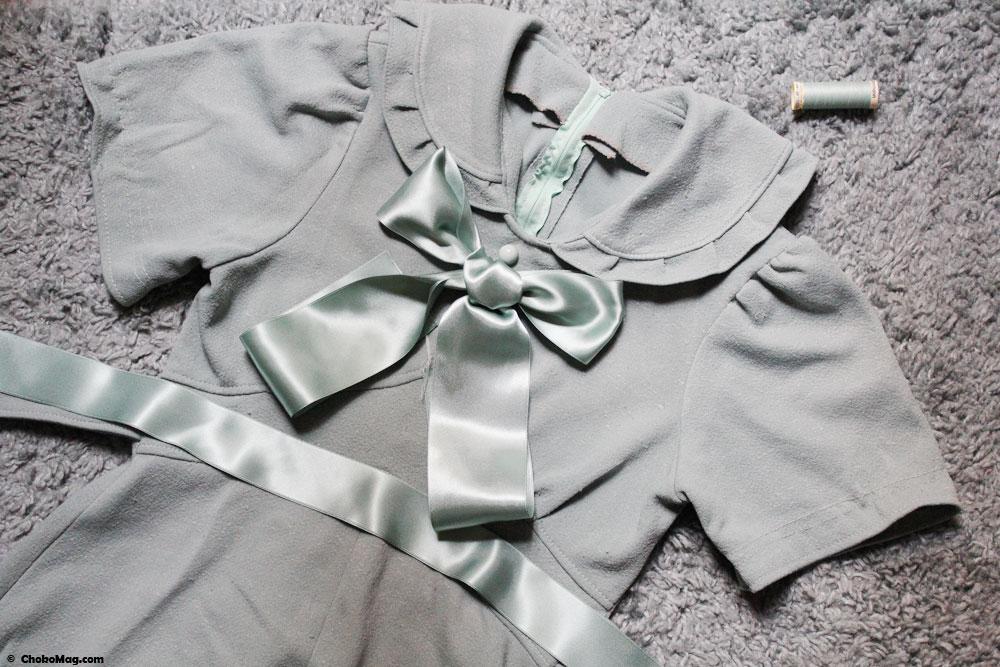 décoration et personnalisation robe vintage faite main