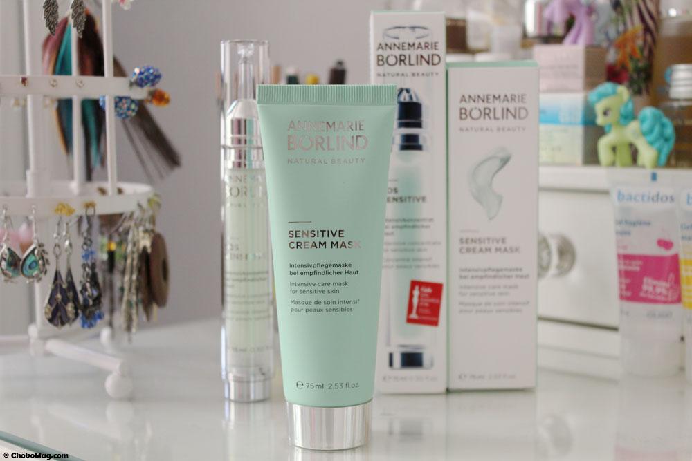 sensitive cream mask, masque vegan pour peau sensible annemarie borlind