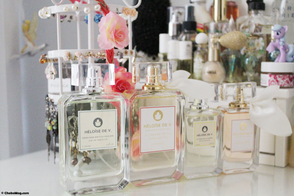 collection de parfums et eaux de toilette heloise de v