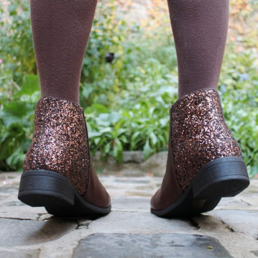 bottines à paillettes cendriyon