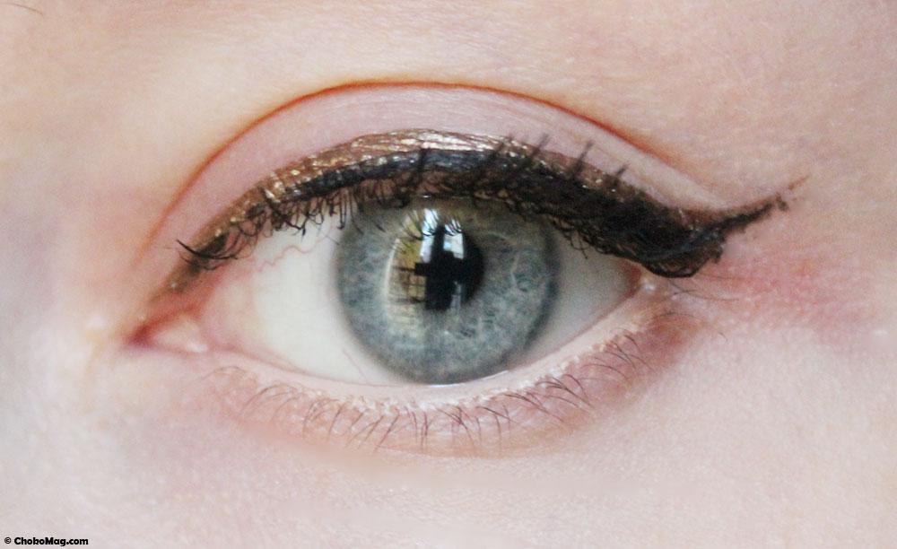 swatch eyeliner bronze couleur caramel