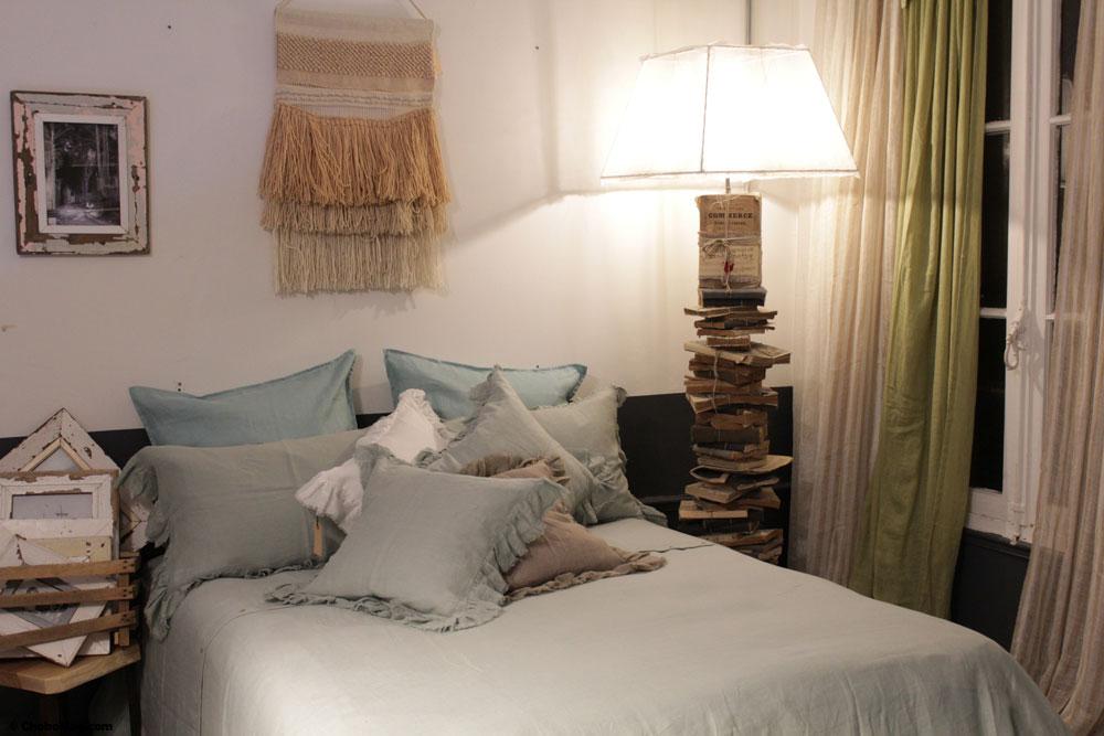 décoration chambre en lin borgo delle tovaglie