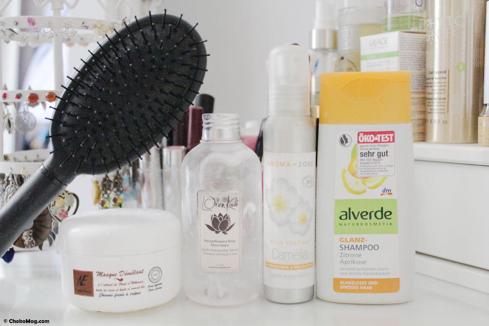 brosse et soins cheveux à jeter
