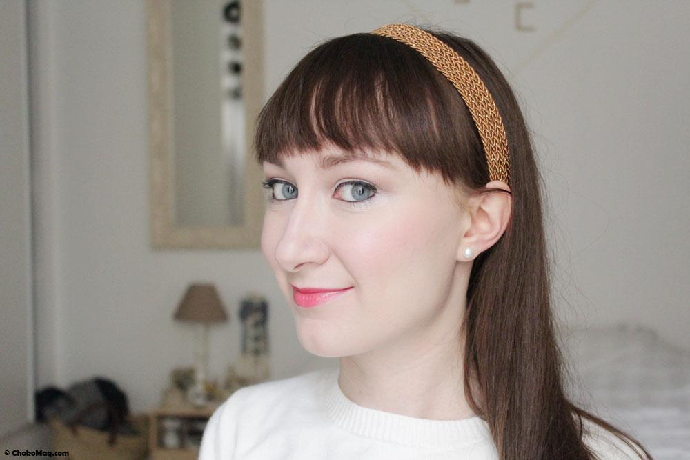 coiffure sage avec headband